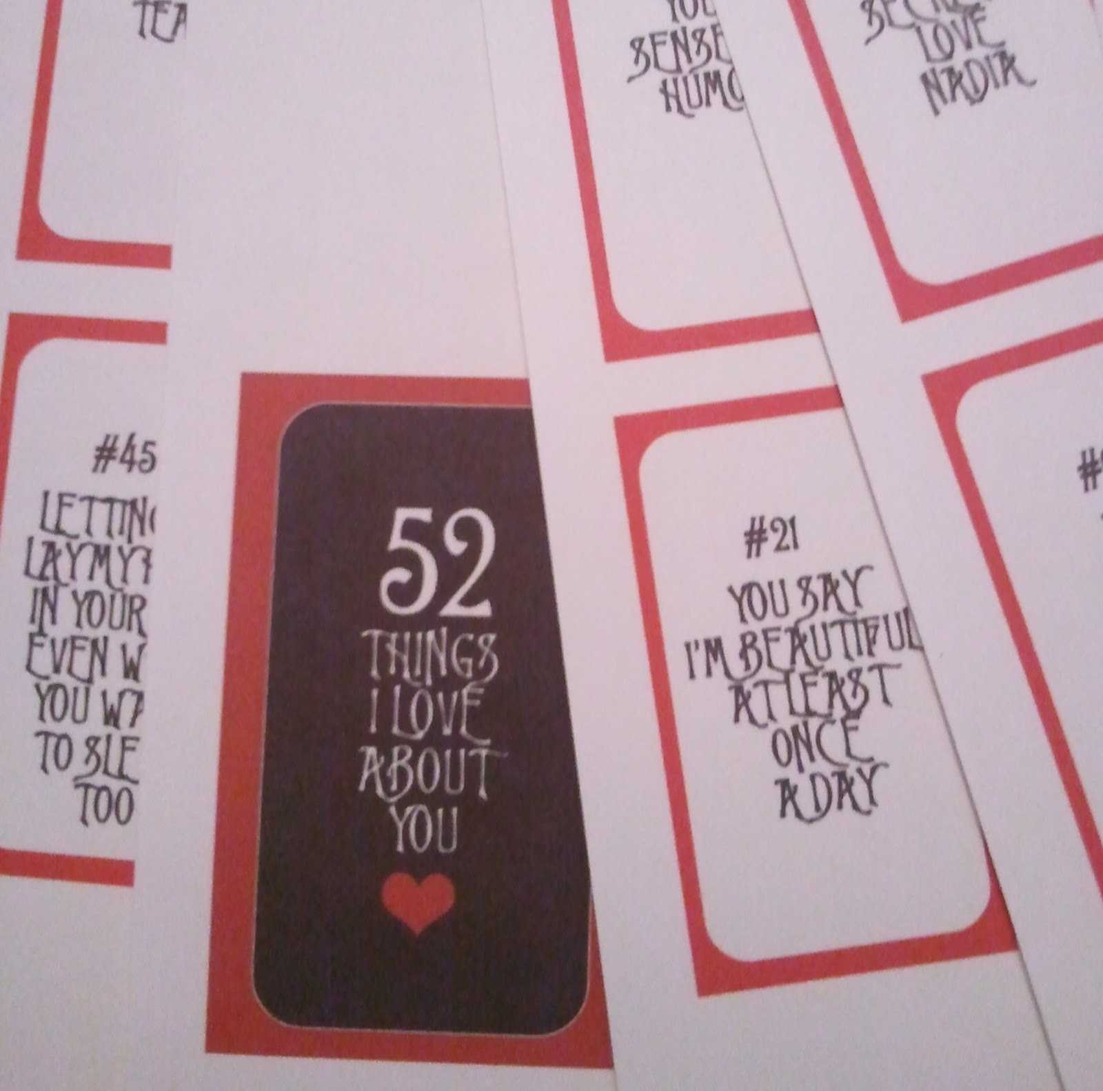 28 Images Of 52 Things Template | Vanscapital Intended For 52 Reasons Why I Love You Cards Templates