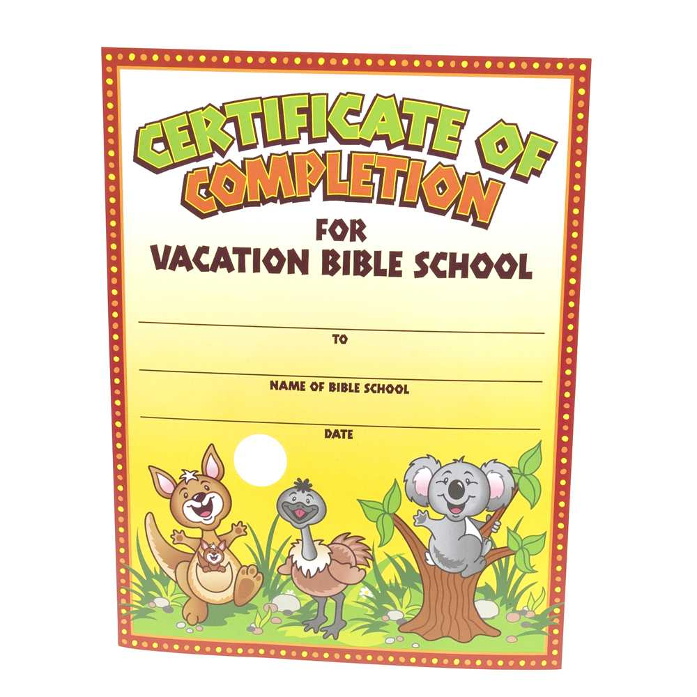 28+ [ Vbs Certificate Template ] | Vacation Bible School Intended For Vbs Certificate Template