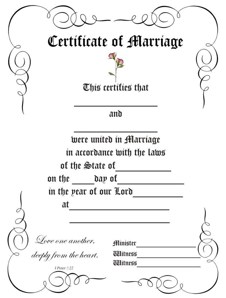 28+ [ Wedding Certificate Templates ] | Marriage Certificate Regarding Blank Marriage Certificate Template