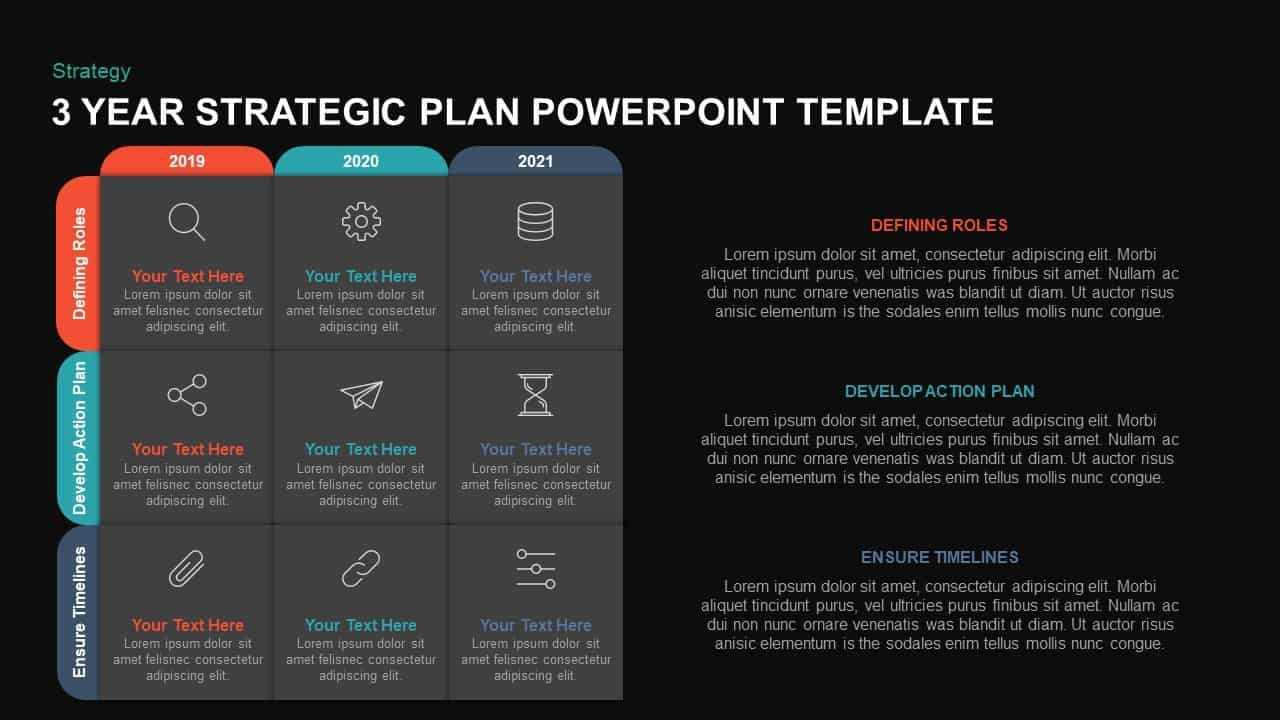 3 Year Strategic Plan Powerpoint Template & Kaynote Within Strategy Document Template Powerpoint