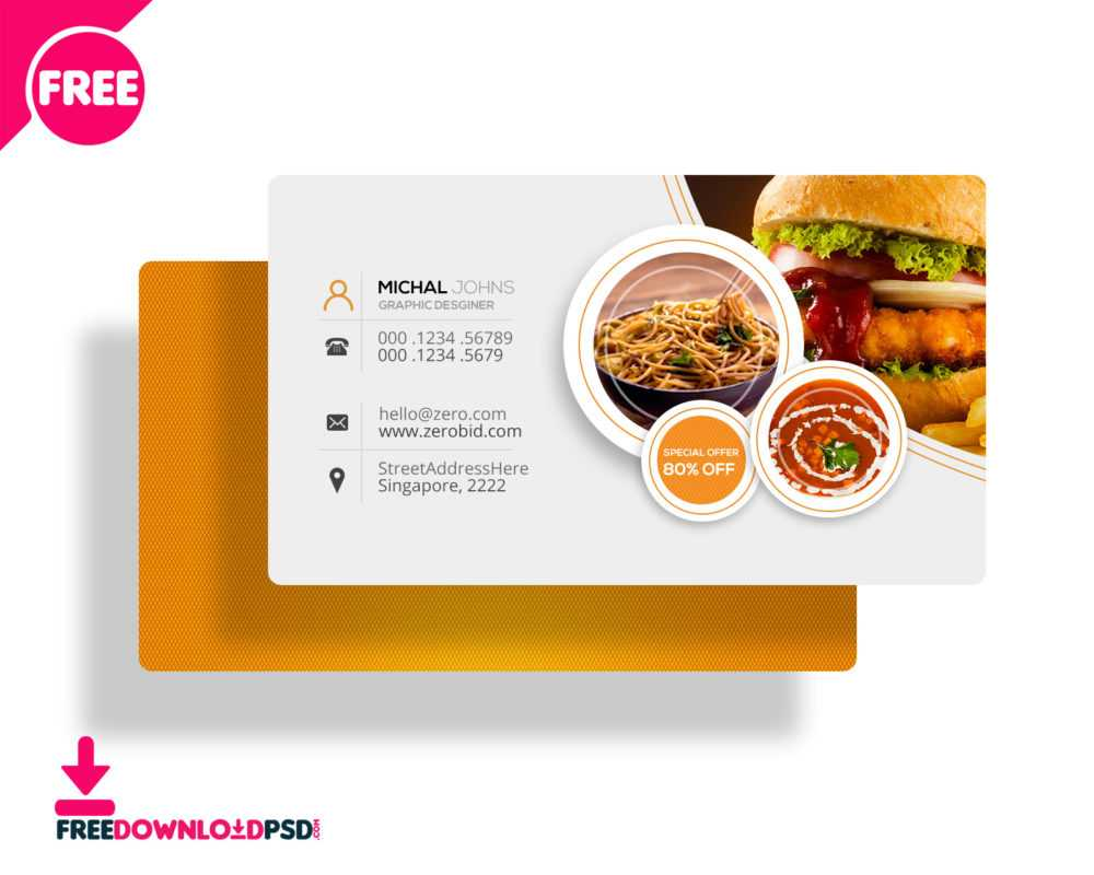 30+ Delicate Restaurant Business Card Templates | Decolore Regarding Restaurant Business Cards Templates Free
