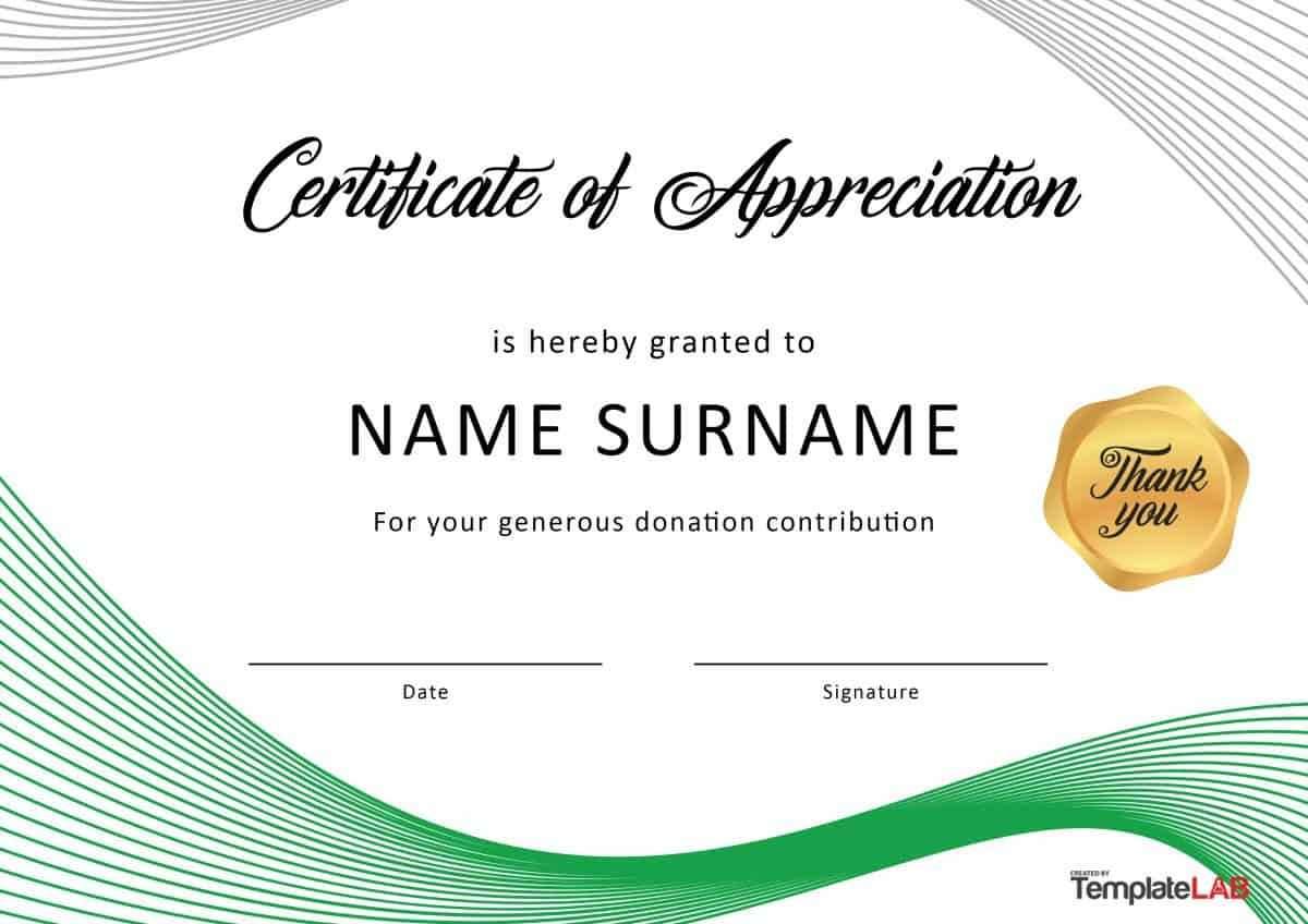 30 Free Certificate Of Appreciation Templates And Letters Inside Free Template For Certificate Of Recognition