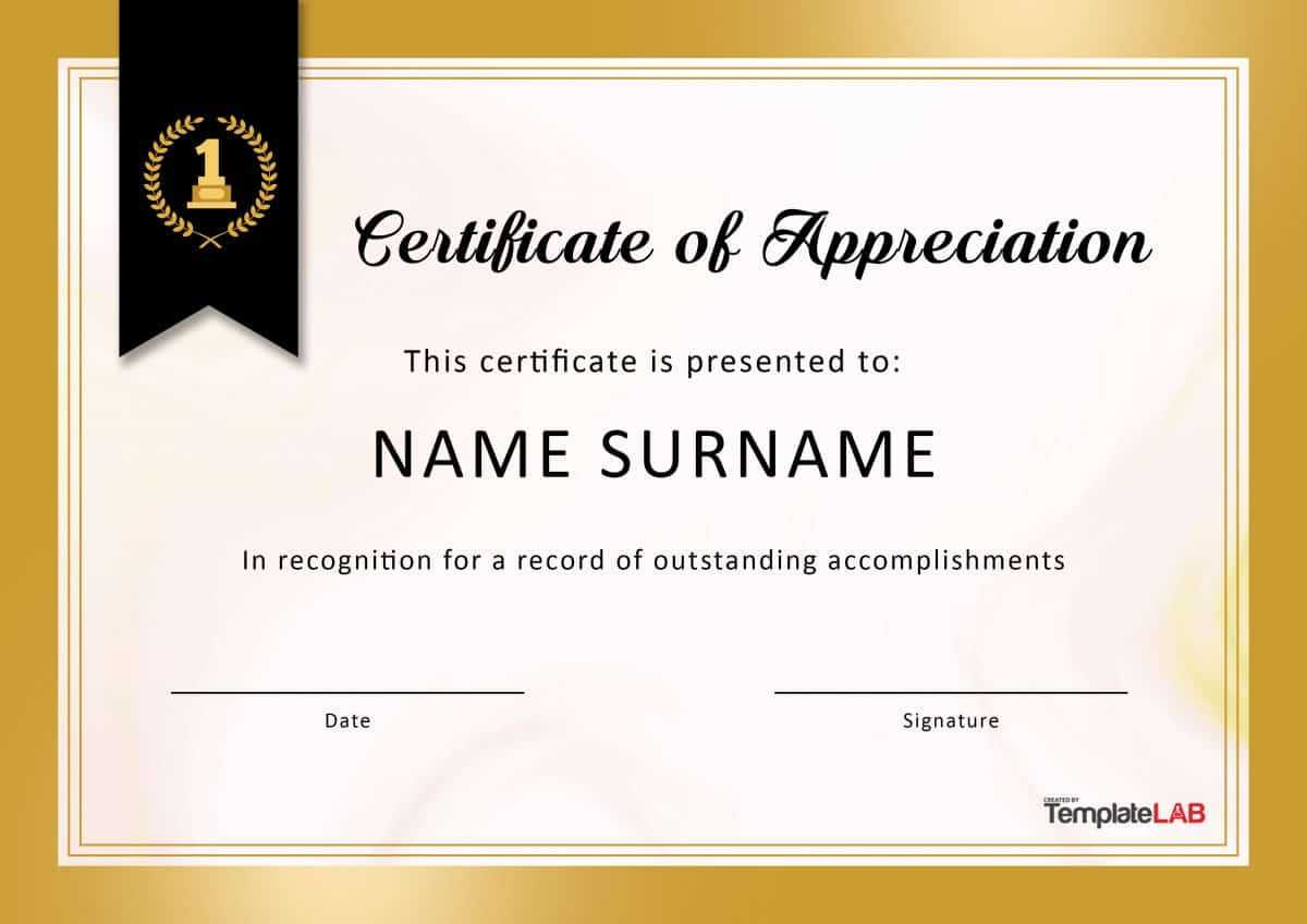 30 Free Certificate Of Appreciation Templates And Letters Inside Good Job Certificate Template