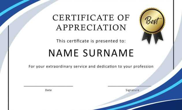 30 Free Certificate Of Appreciation Templates And Letters throughout Certificate Of Recognition Word Template