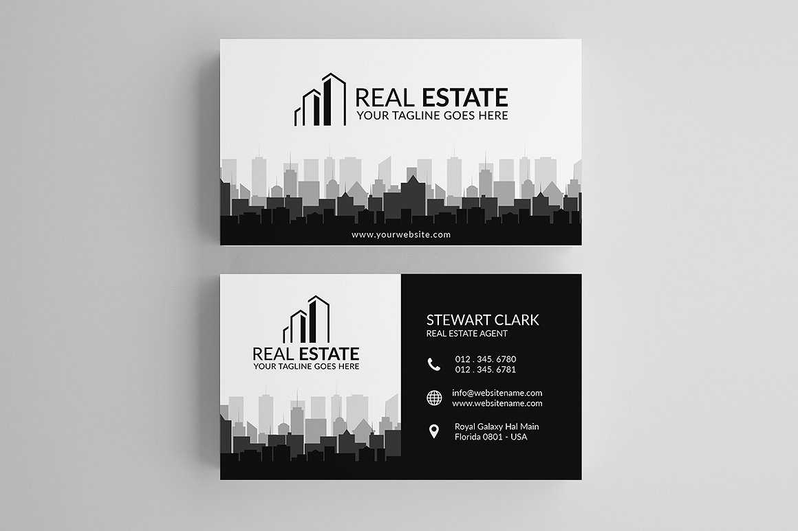 30+ Modern Real Estate Business Cards Psd   Decolore Throughout Real Estate Agent Business Card Template