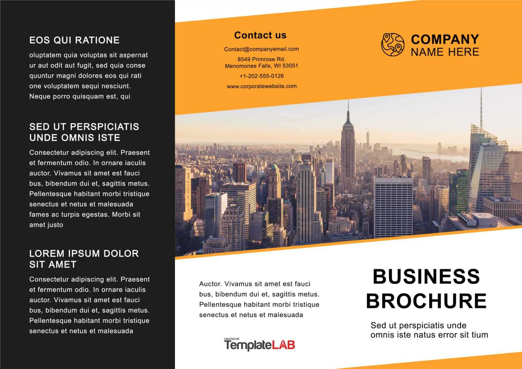 33 Free Brochure Templates (Word + Pdf) ᐅ Template Lab In Free Online Tri Fold Brochure Template