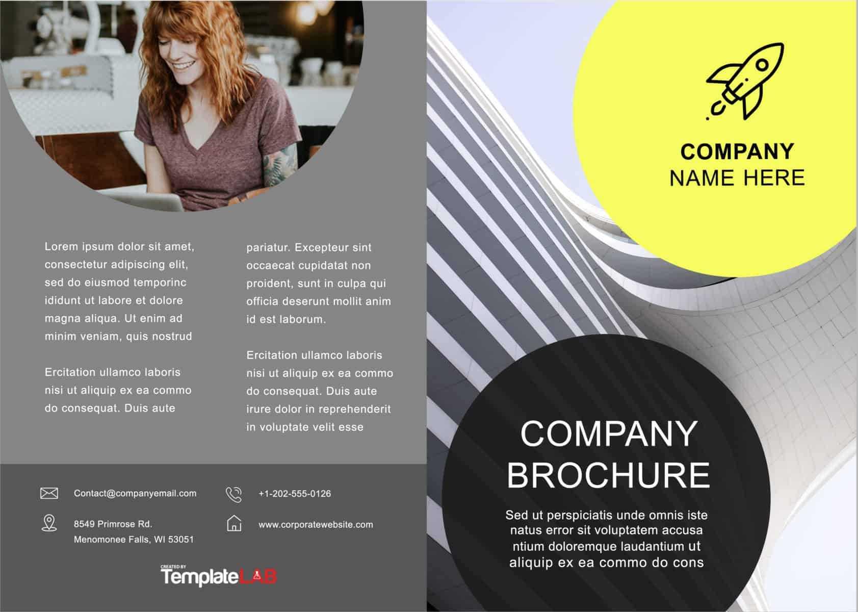 33 Free Brochure Templates (Word + Pdf) ᐅ Template Lab With Regard To Free Brochure Template Downloads