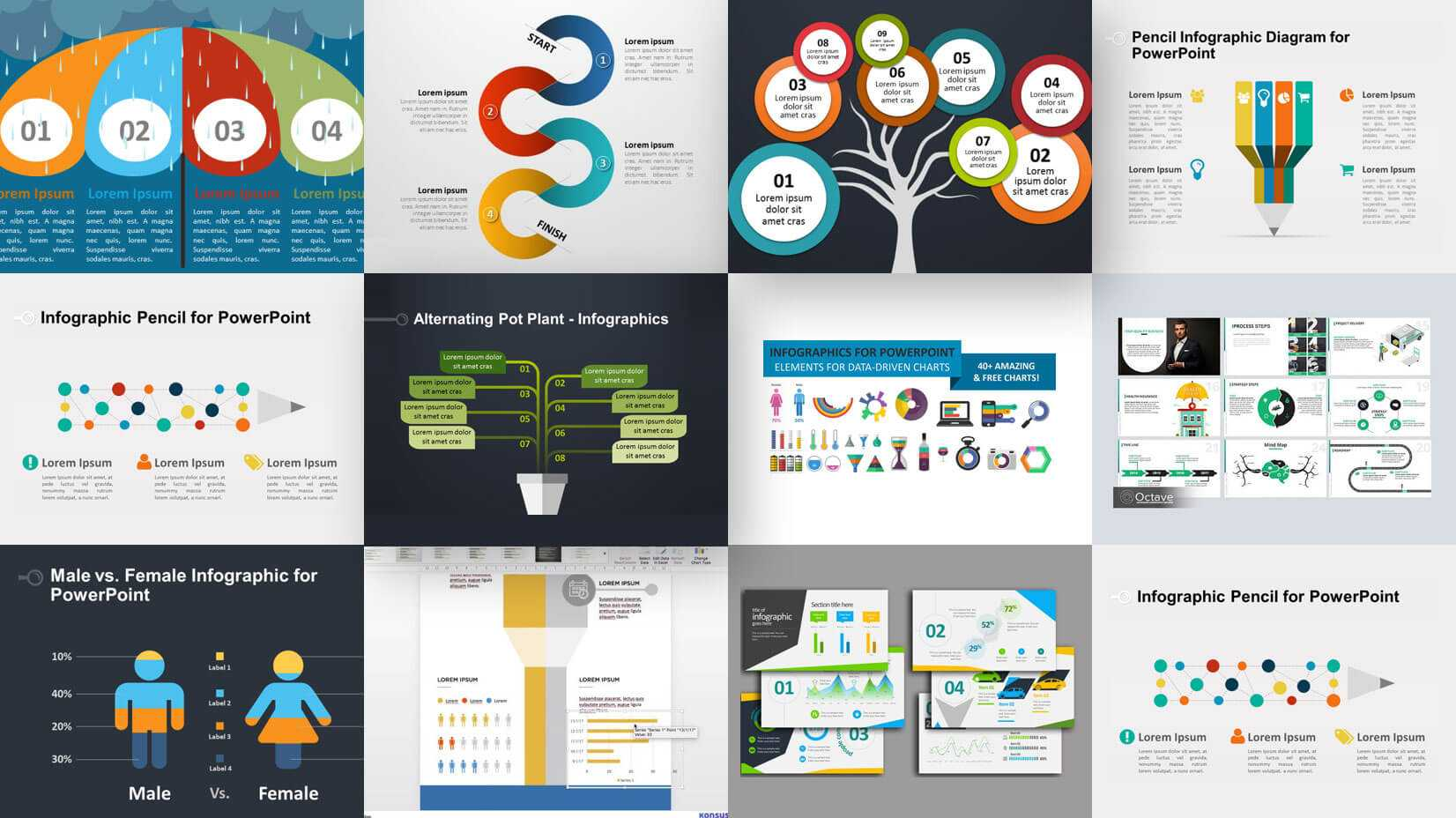 35+ Free Infographic Powerpoint Templates To Power Your Pertaining To Sample Templates For Powerpoint Presentation