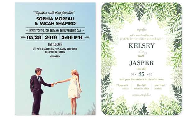 35+ Wedding Invitation Wording Examples 2020 | Shutterfly intended for Sample Wedding Invitation Cards Templates