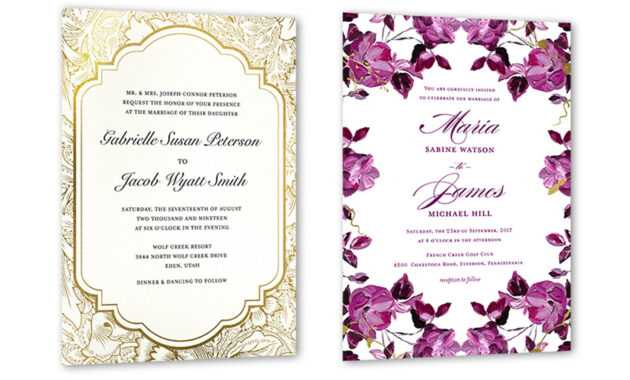 35+ Wedding Invitation Wording Examples 2020 | Shutterfly with Sample Wedding Invitation Cards Templates