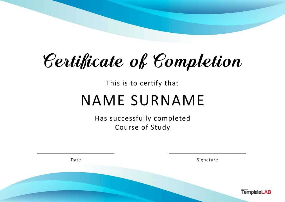 40 Fantastic Certificate Of Completion Templates [Word Inside Class Completion Certificate Template
