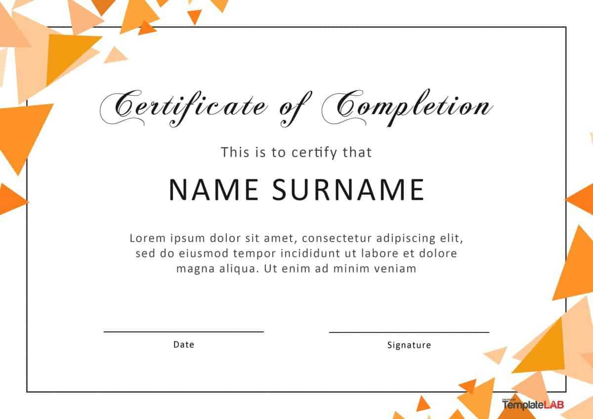 40 Fantastic Certificate Of Completion Templates [Word Inside Classroom Certificates Templates