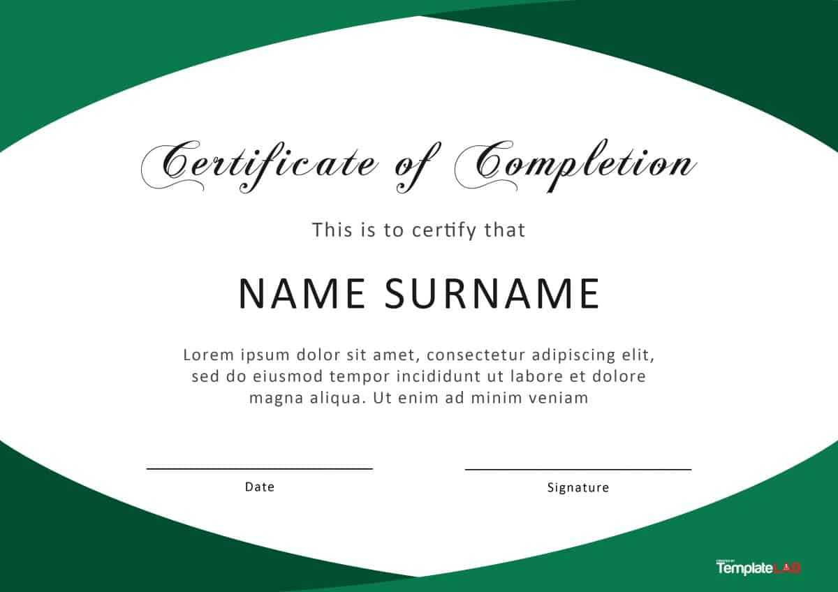 40 Fantastic Certificate Of Completion Templates [Word Pertaining To Certificate Of Completion Template Word