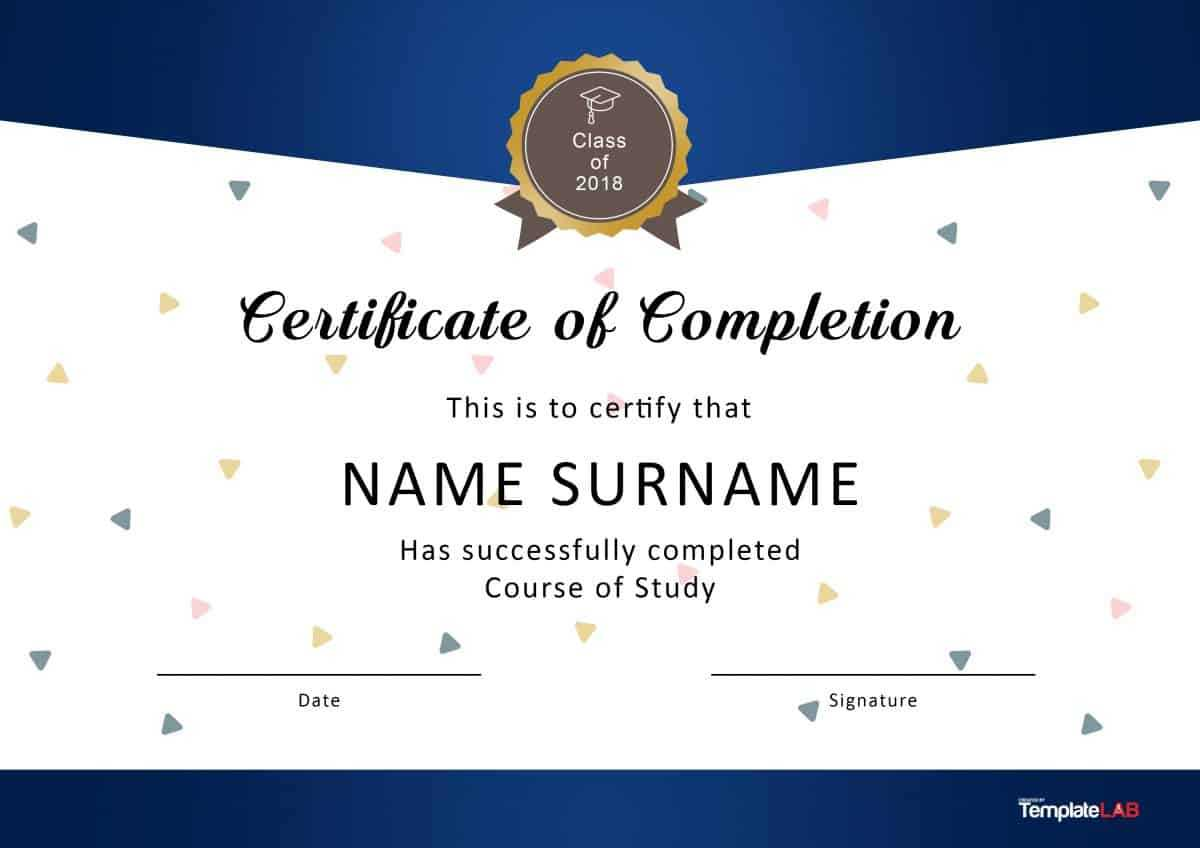 40 Fantastic Certificate Of Completion Templates [Word Throughout Blank Certificate Of Achievement Template