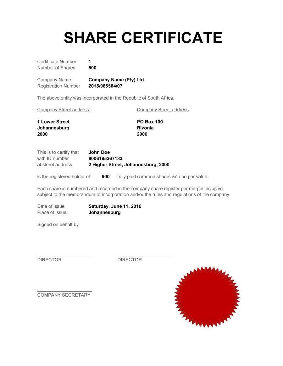 40+ Free Stock Certificate Templates (Word, Pdf) ᐅ Template Lab In Shareholding Certificate Template
