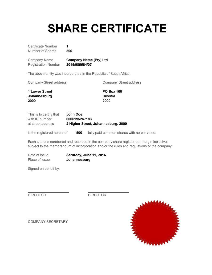 40+ Free Stock Certificate Templates (Word, Pdf) ᐅ Template Lab Intended For Blank Share Certificate Template Free