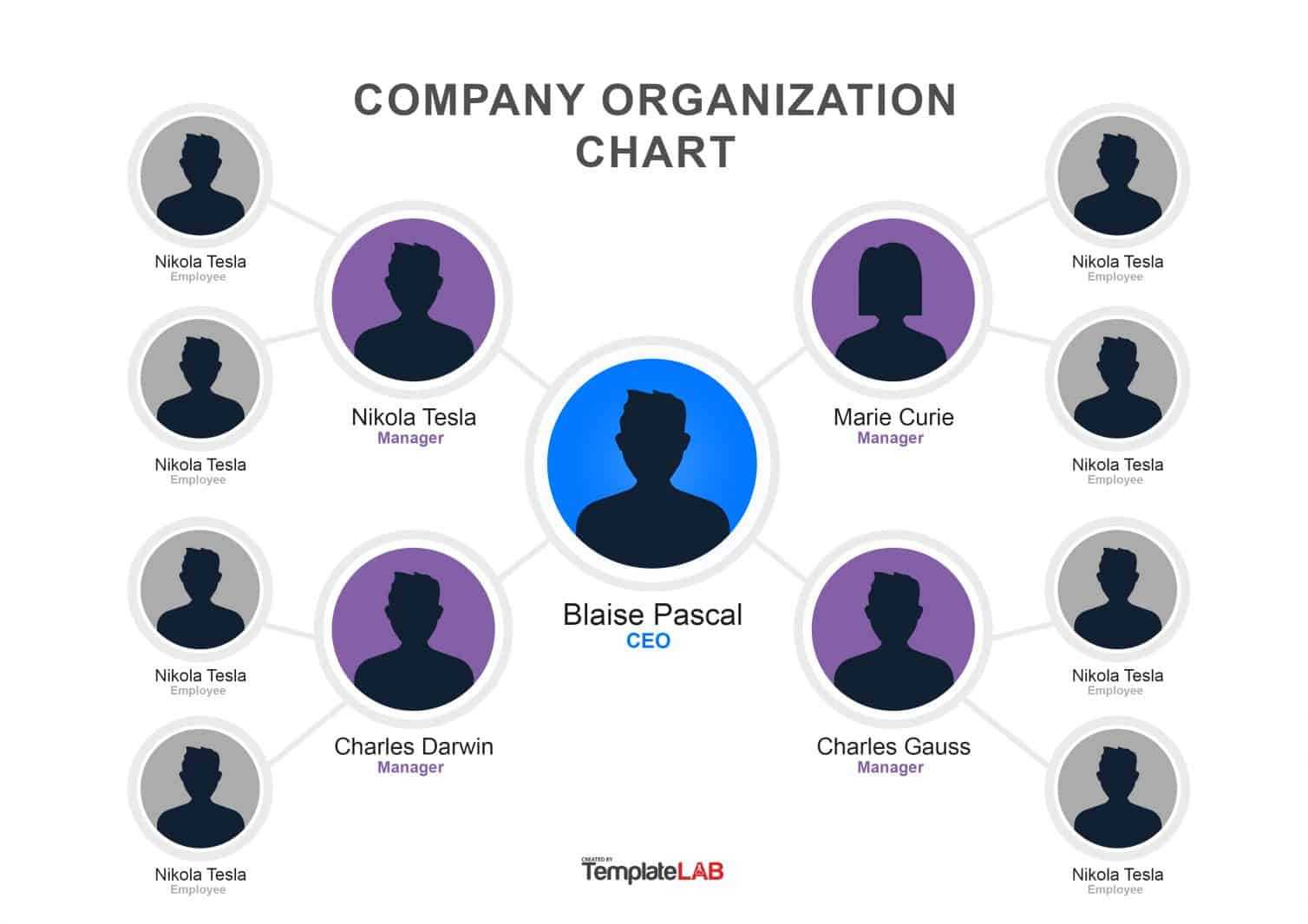 40 Organizational Chart Templates (Word, Excel, Powerpoint) With Microsoft Powerpoint Org Chart Template