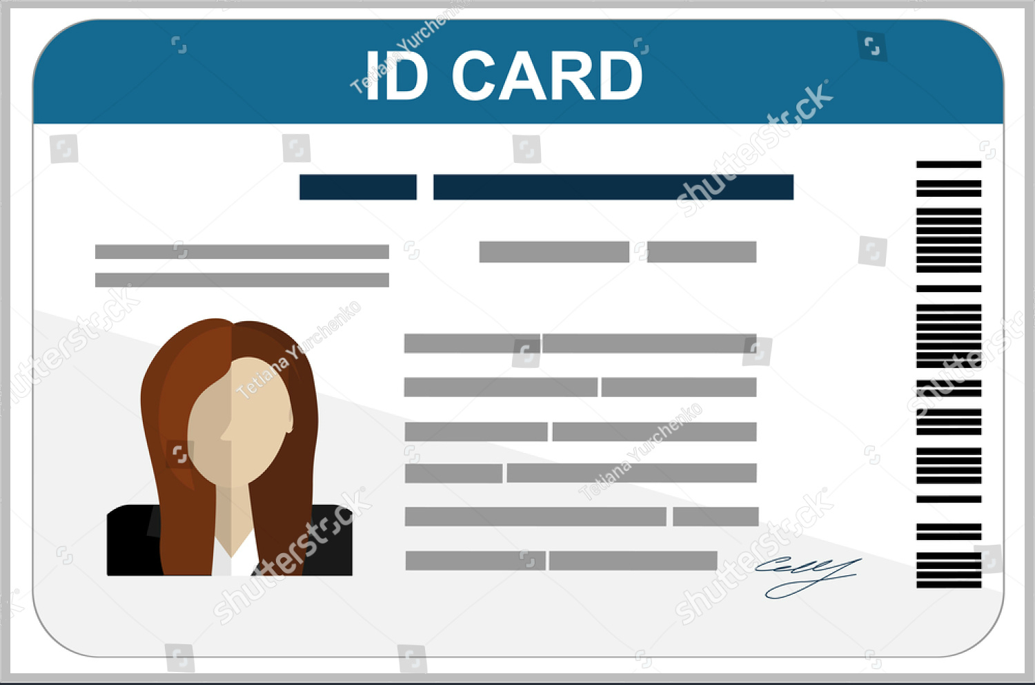 43+ Professional Id Card Designs - Psd, Eps, Ai, Word | Free In Pvc Card Template