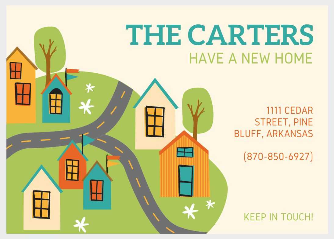 49 Free Change Of Address Cards (Moving Announcements) Regarding Moving Home Cards Template