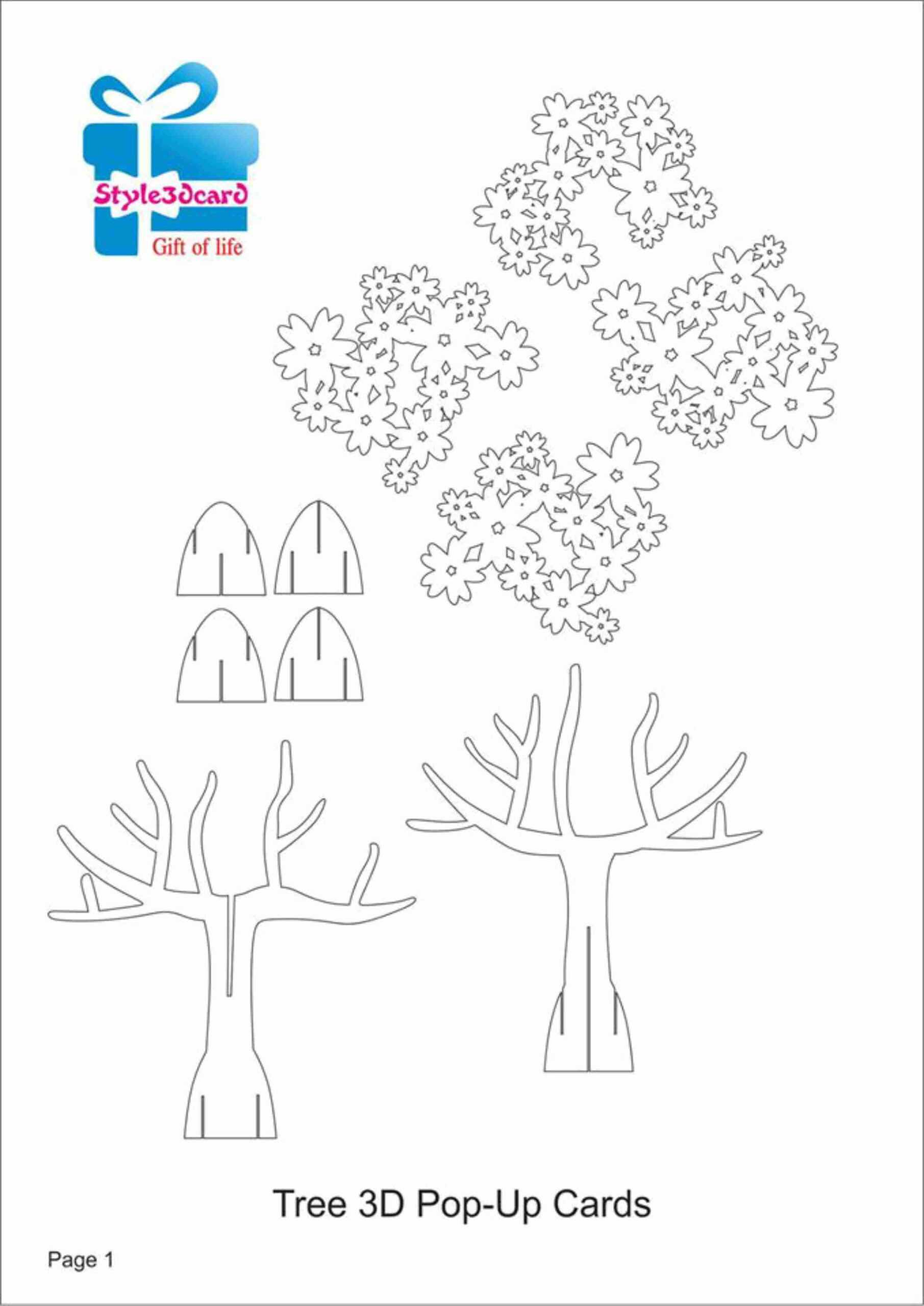 49Cb Kirigami Templates Free | Wiring Library With Printable Pop Up Card Templates Free