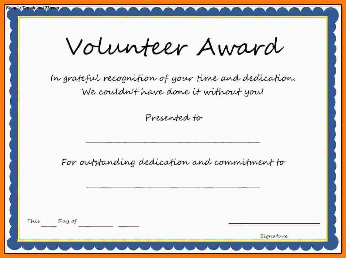5+ Free Volunteer Certificates | Marlows Jewellers For Volunteer Certificate Templates