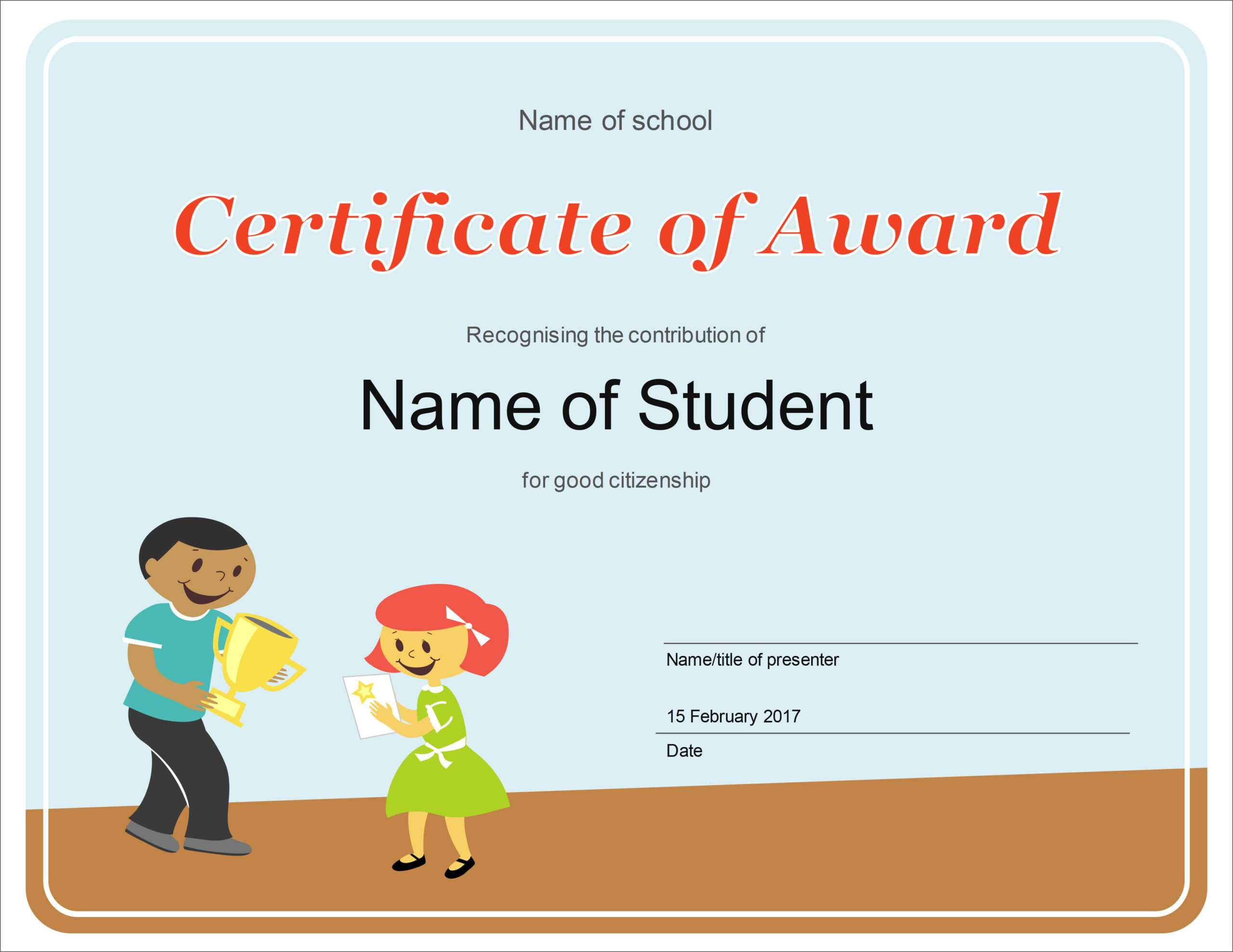 50 Free Creative Blank Certificate Templates In Psd In Free School Certificate Templates