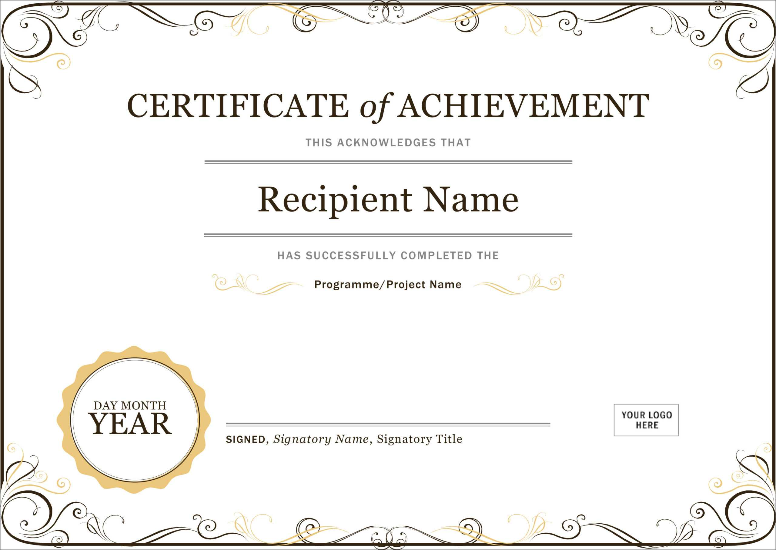 50 Free Creative Blank Certificate Templates In Psd Within Student Of The Year Award Certificate Templates