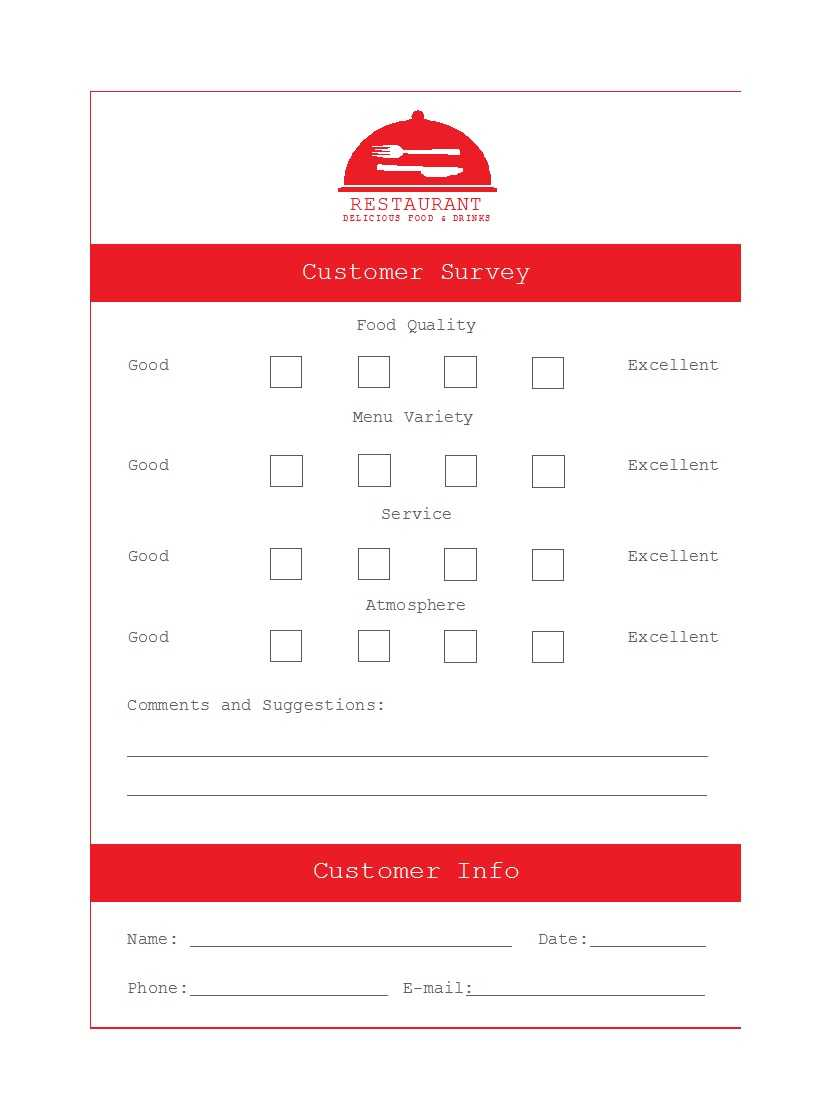 50 Printable Comment Card & Feedback Form Templates ᐅ With Regard To Survey Card Template