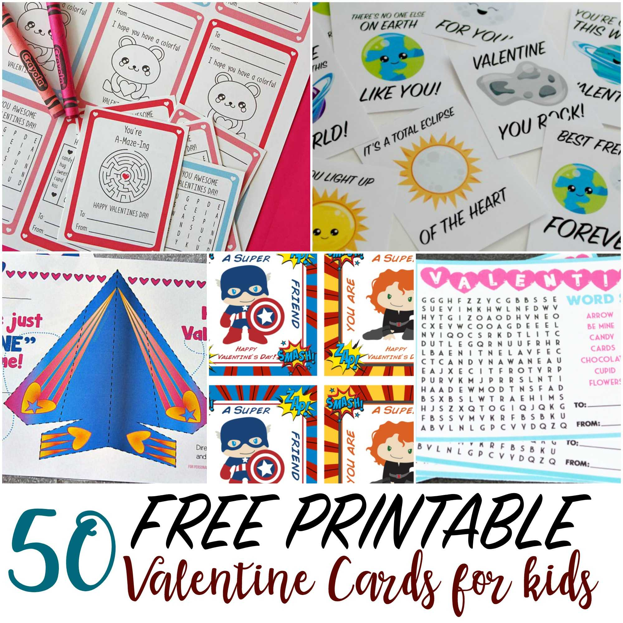 50 Printable Valentine Cards For Kids Pertaining To Valentine Card Template For Kids
