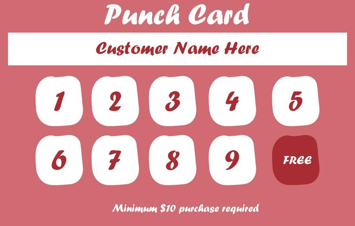 50+ Punch Card Templates – For Every Business (Boost In Business Punch Card Template Free