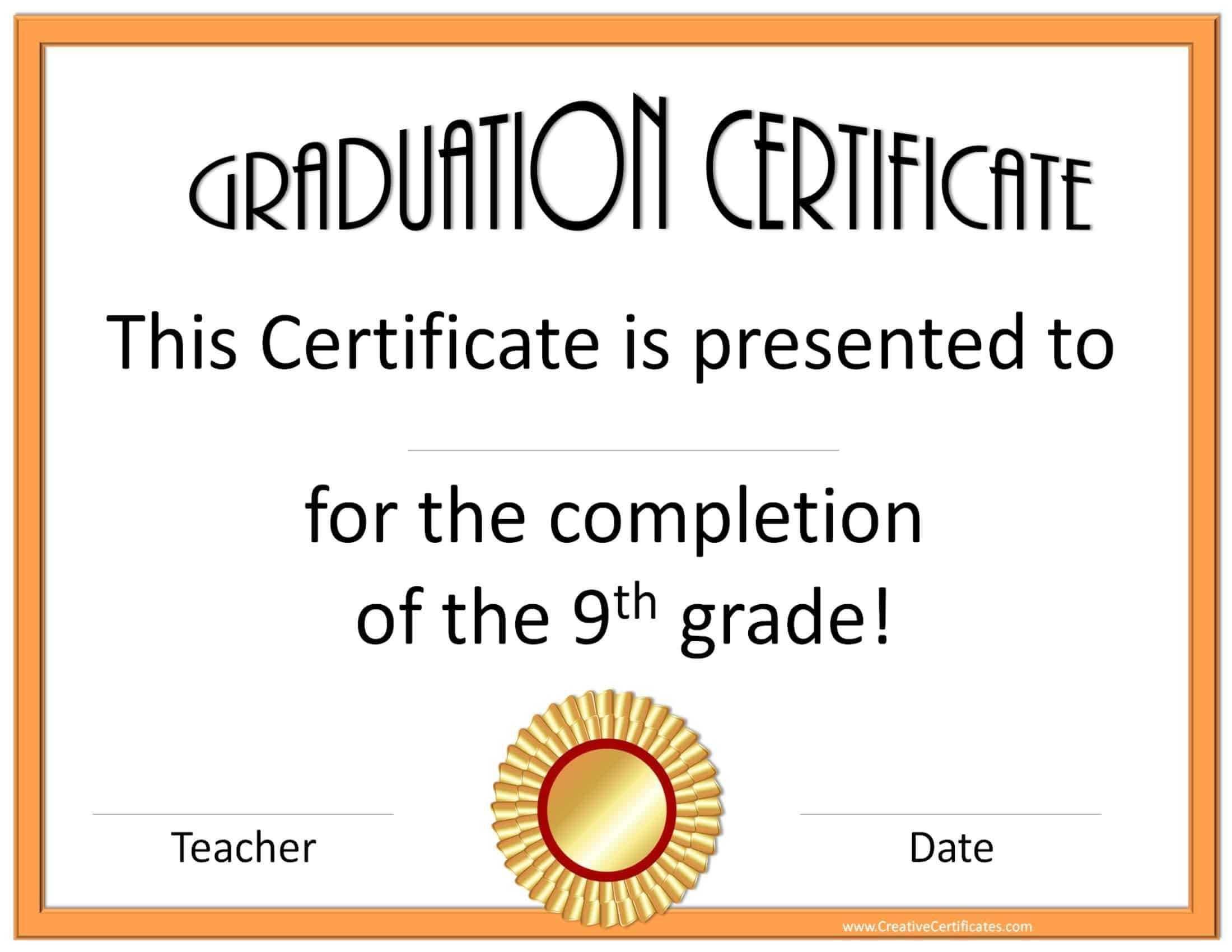 5Th Grade Graduation Certificate Template ] - Diplomas Free In 5Th Grade Graduation Certificate Template