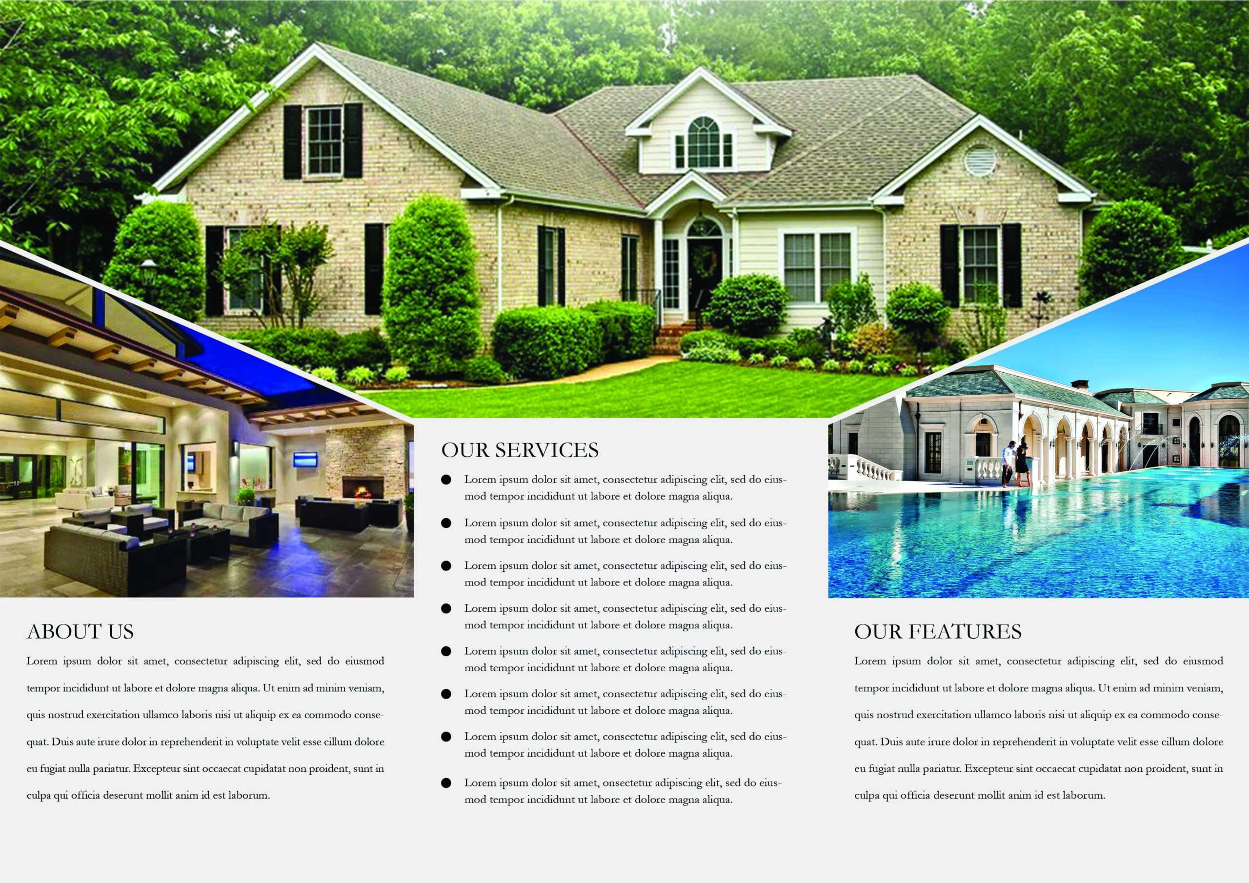 65+ Print Ready Brochure Templates Free Psd Indesign & Ai Regarding Real Estate Brochure Templates Psd Free Download
