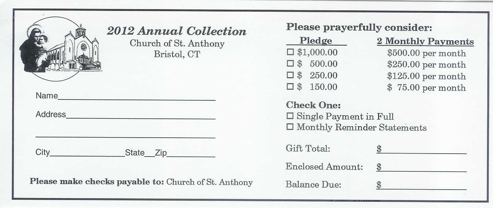 7 Best Photos Of Church Building Fund Pledge Form Template Intended For Building Fund Pledge Card Template