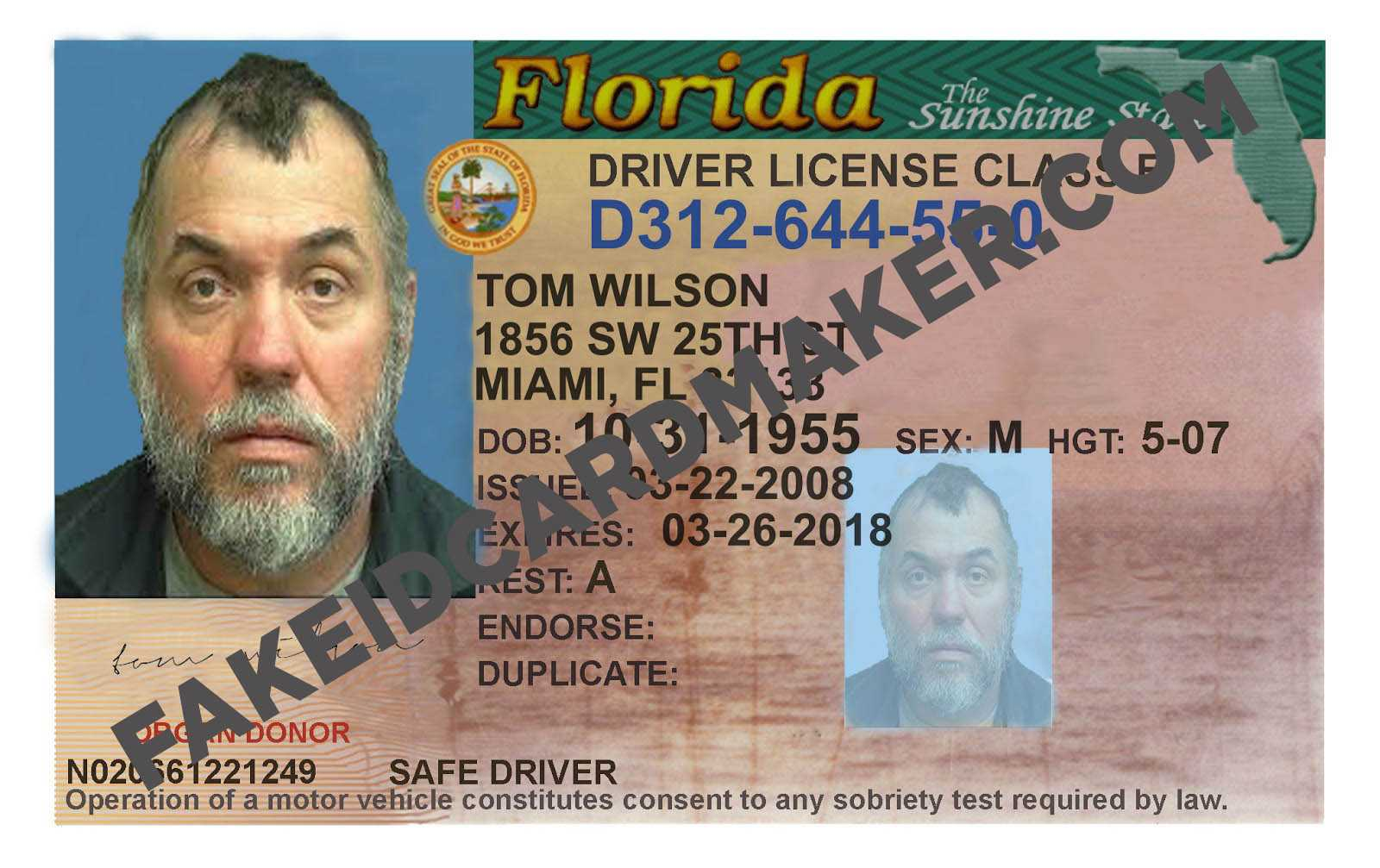 7A537 Florida Driver License Template | Wiring Resources Within Florida Id Card Template