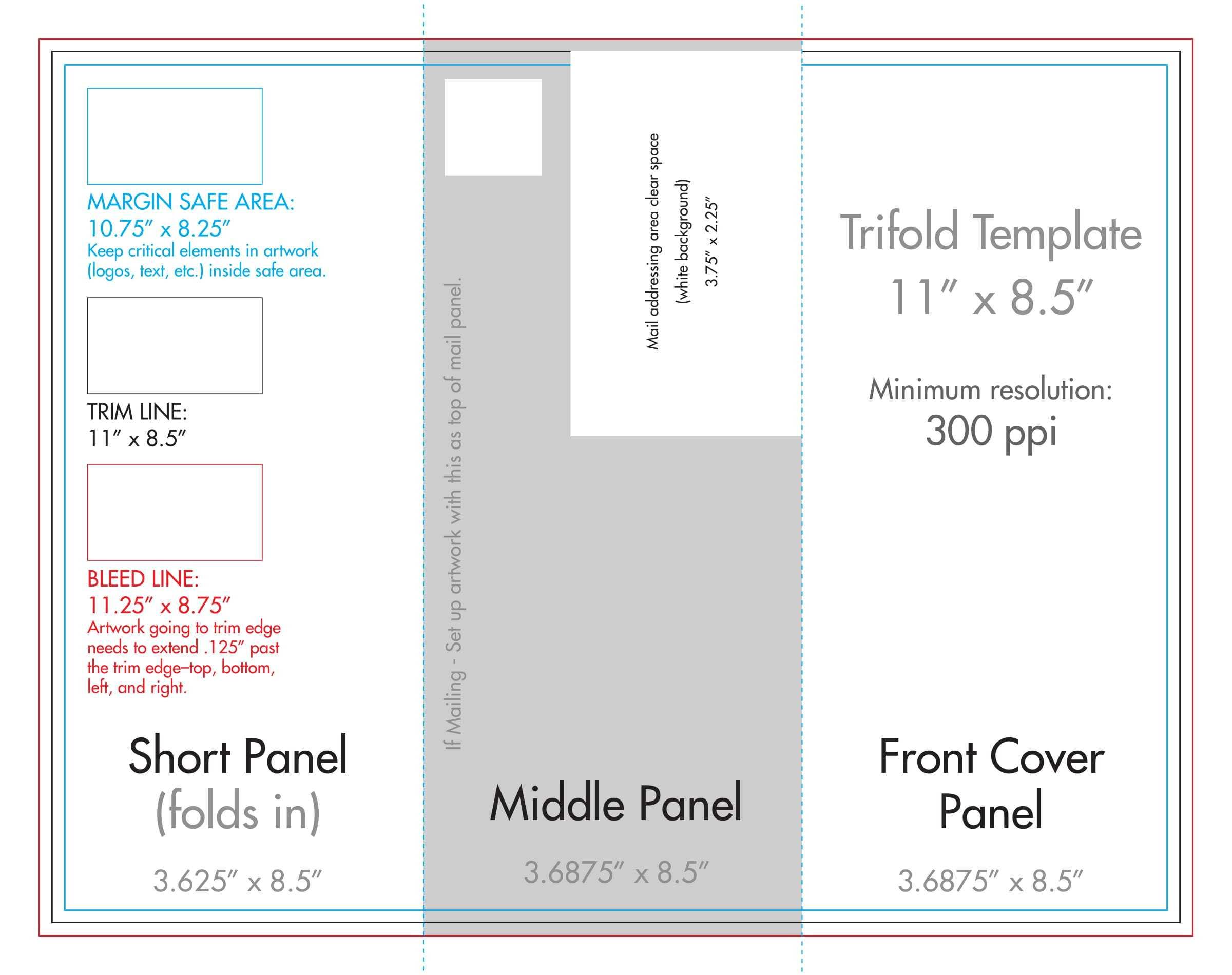 "8.5"" X 11"" Tri Fold Brochure Template - U.s. Press Pertaining To 8.5 X11 Brochure Template"
