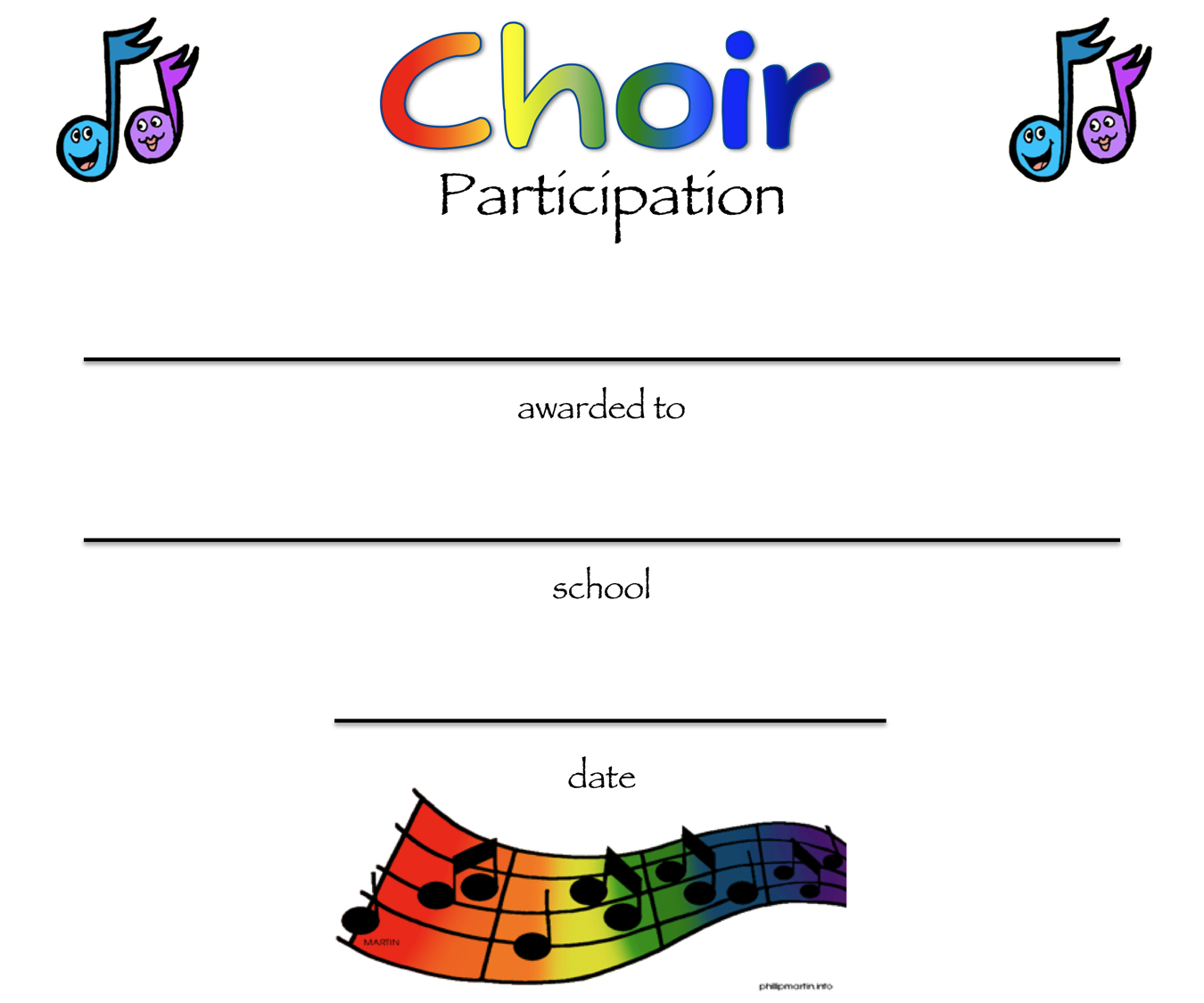 8+ Free Choir Certificate Of Participation Templates - Pdf With Choir Certificate Template