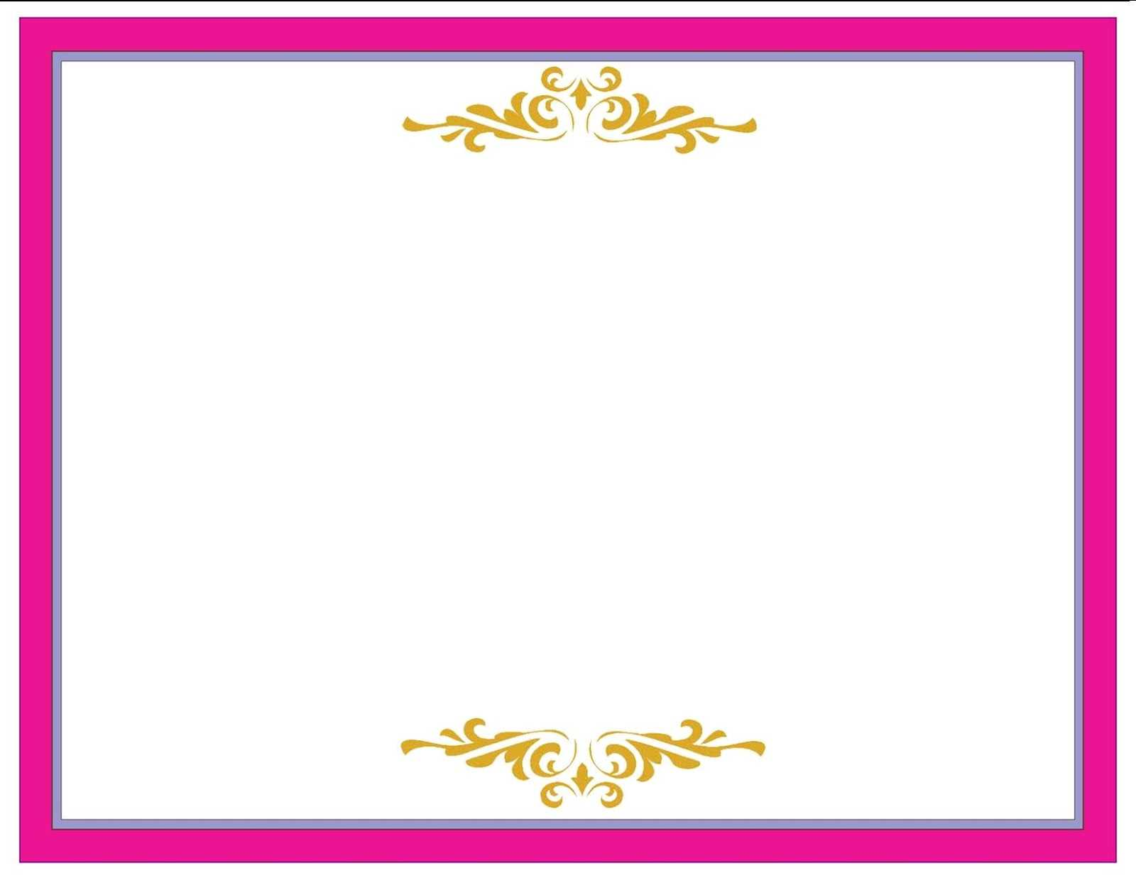 A Collection Of Free Certificate Borders And Templates Within Pageant Certificate Template