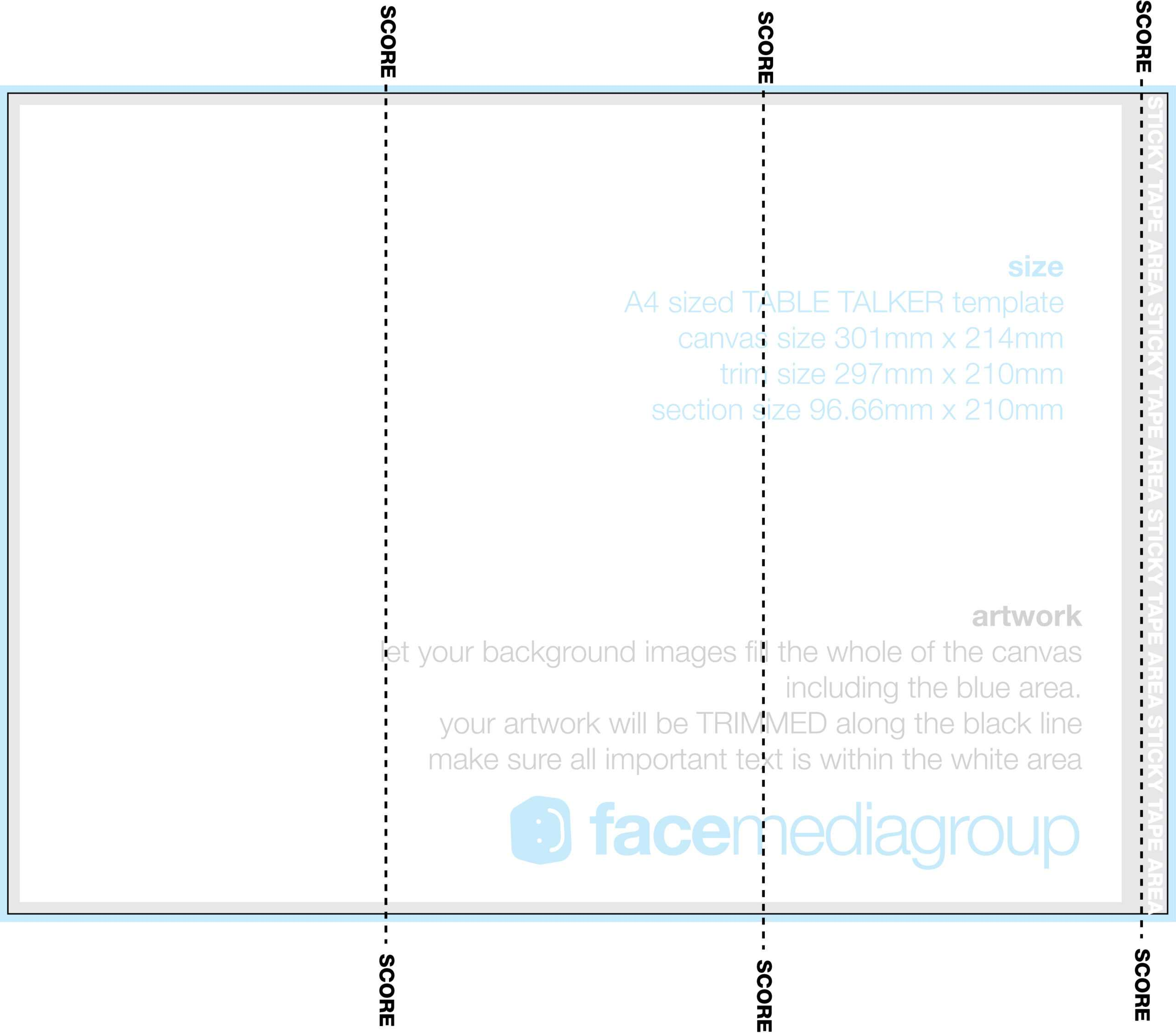 A4 Tri Fold Table Talker Template | Photo Page - Everystockphoto With Regard To Tri Fold Tent Card Template