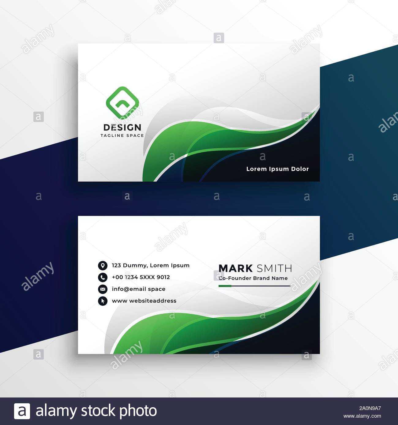 Abstract Green Visiting Card Design Template Stock Vector Regarding Designer Visiting Cards Templates