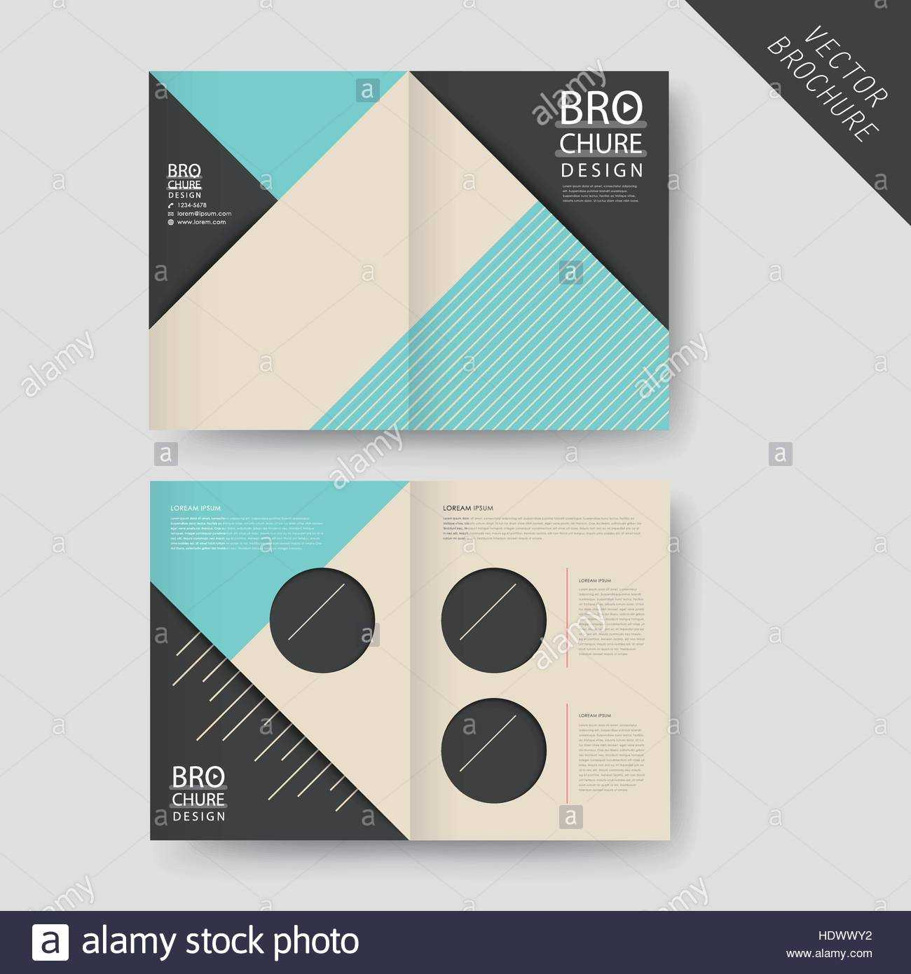 Abstract Half Fold Brochure Template Design Stock Photos With Regard To Half Page Brochure Template