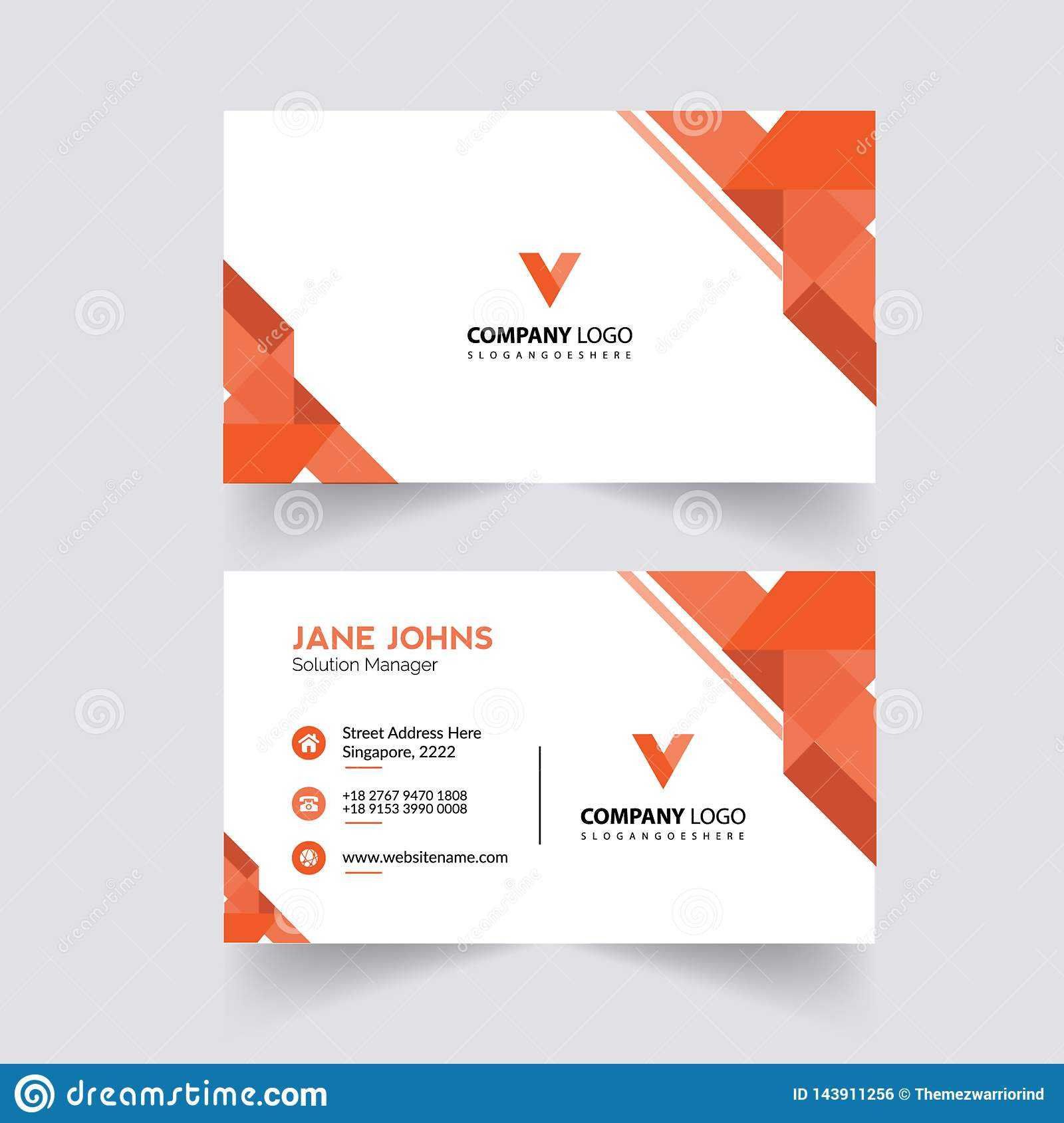 Abstruct Business Card Template Stock Illustration Inside Adobe Illustrator Business Card Template