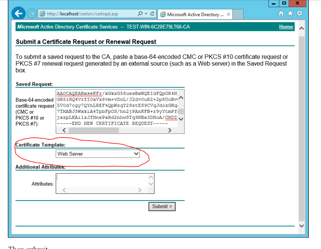 Ad Certificate Services - The Combobox To Select Template Is With Regard To Active Directory Certificate Templates