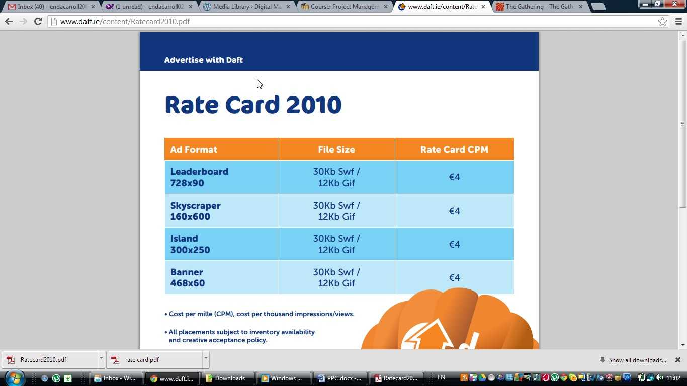 Advertisers | Digital Marketing Blog On Measurement With Regard To Advertising Rate Card Template
