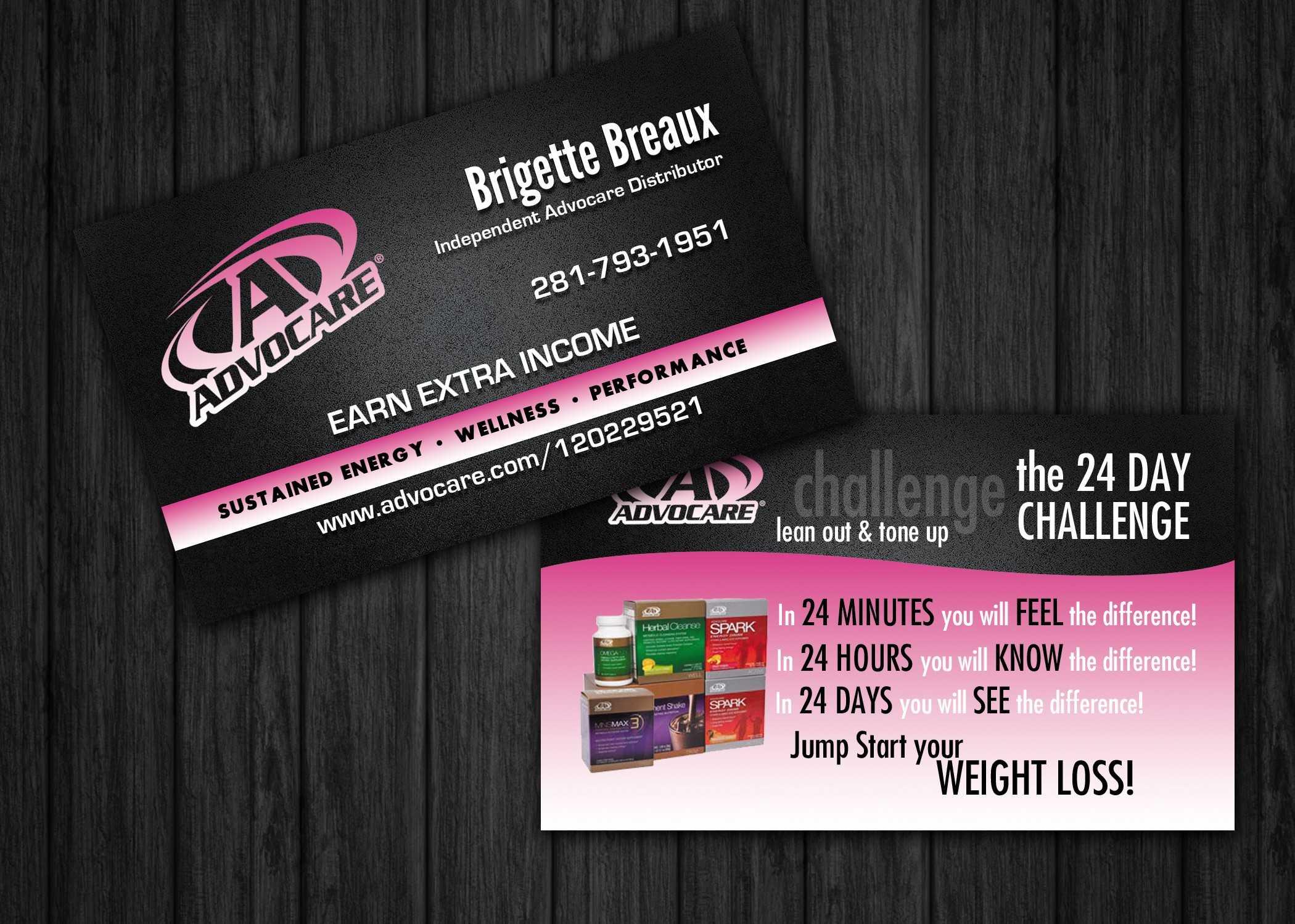 Advocare Business Card Template Advocare Business Cards For With Advocare Business Card Template