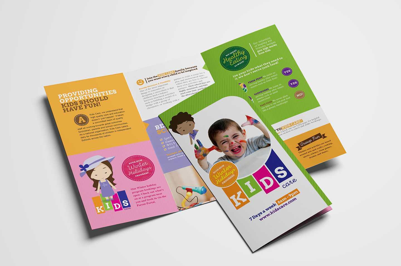 After School Care Tri Fold Brochure Template In Psd, Ai With School Brochure Design Templates