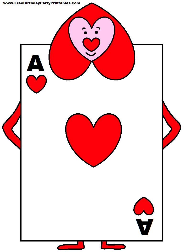 Alice In Wonderland Card Soldiers Printable Cutout Within Alice In Wonderland Card Soldiers Template