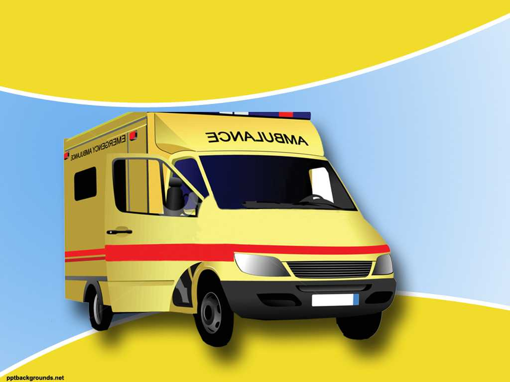 Ambulance Backgrounds For Powerpoint - Health And Medical Pertaining To Ambulance Powerpoint Template
