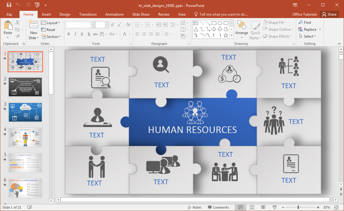 Animated Hr Powerpoint Template In Powerpoint Replace Template