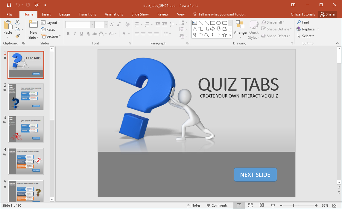 Animated Powerpoint Quiz Template For Conducting Quizzes Inside Powerpoint Quiz Template Free Download