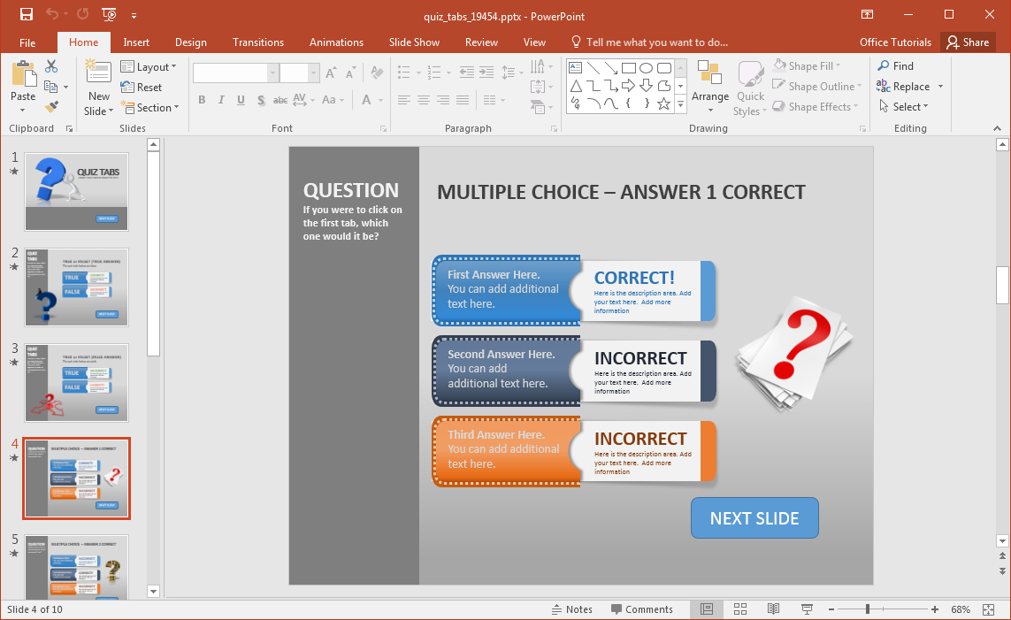 Animated Powerpoint Quiz Template For Conducting Quizzes Throughout Trivia Powerpoint Template